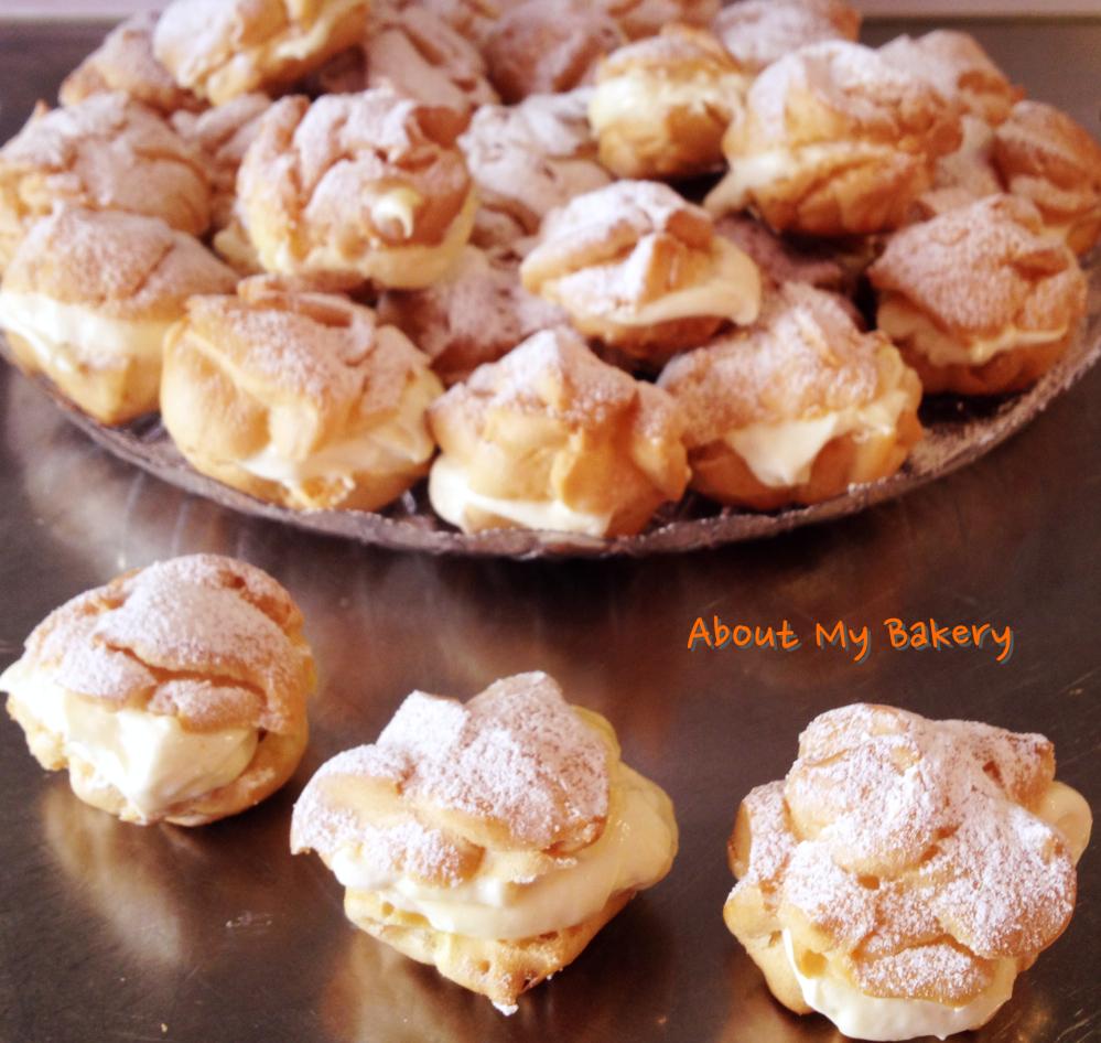Nuvole di chantilly al limone – Pasta choux farcita di crema