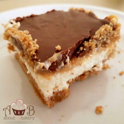 torta twix cheesecake
