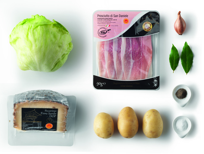 Millefoglie prosciutto crudo e crema di patate – Antipasto
