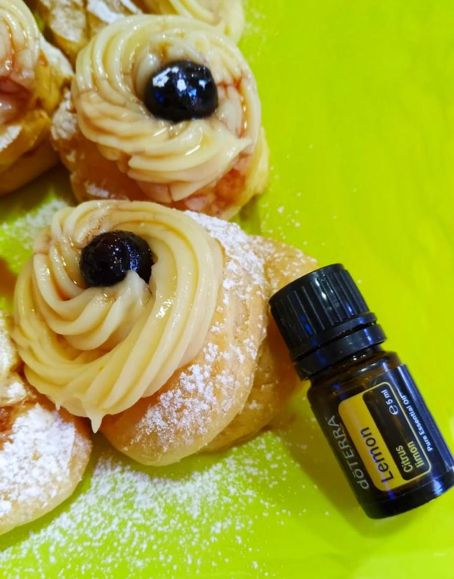 Crema pasticcera con olio essenziale al limone