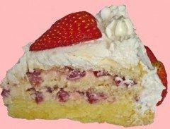 Torta gustosa ai lamponi e panna