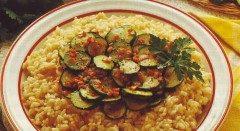 Risotto con zucchine e prosciutto