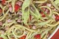 Bucatini con puntarelle, pancetta e mollica