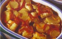 Baccala con patate e peperoni