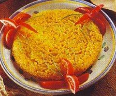 Tortino di riso allo zafferano
