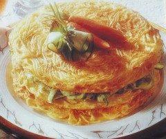 Frittata di spaghetti a tortino