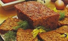Polpettone di carne prosciutto e fagiolini