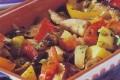 Misto di melanzane patate e pomodori