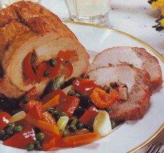 Arrosto di maiale farcito di verdure