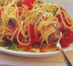 Spaghetti in salsa cruda all'origano