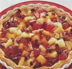 Crostata sfogliata alla frutta e noci