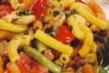 Maccheroni con pancetta e funghi