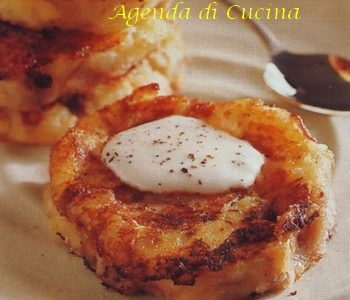 Tortini di patate e fontina
