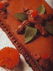 Torta Pan di Spagna ricoperta di cioccolato