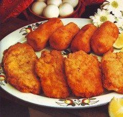 Cotolette farcite e crocchette di patate