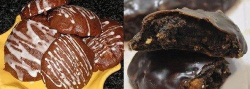 Mostaccioli glassati al cioccolato