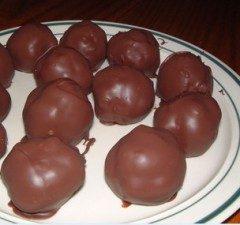 Pallottole di natale glassate al cioccolato