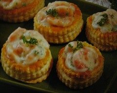 vol-au-vents ai gamberetti