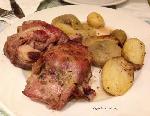 Agnello con patate, carciofi (la prova del cuoco)