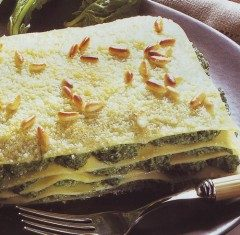Lasagne al pesto e pinoli