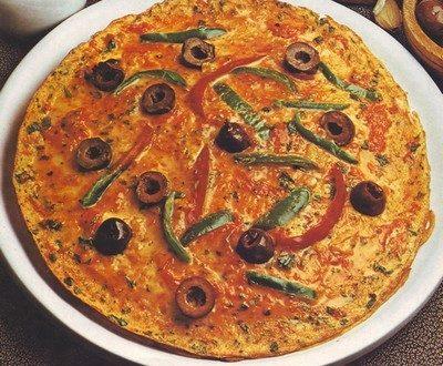 Frittata di peperoni e olive