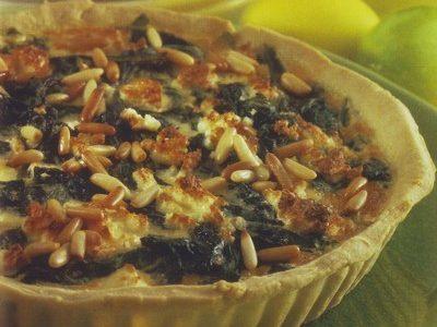 Torta salata ai pinoli e spinaci