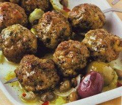 Crocchette di manzo alle olive e senape