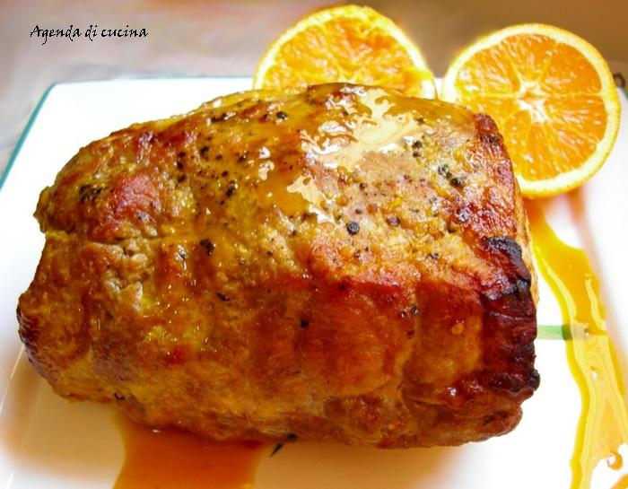Arrosto di vitello all'arancia