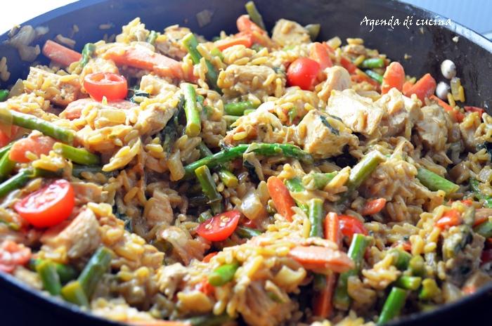 Pasticcio di riso e asparagi