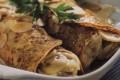 Crepes farcite di pollo e funghi