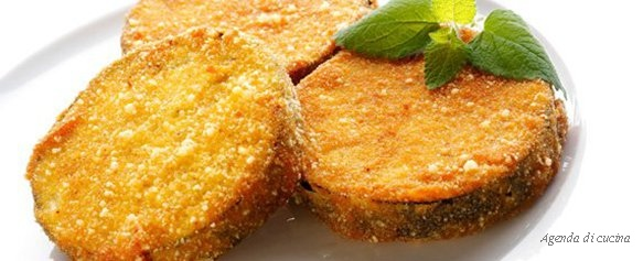 Fette di melanzane in carrozza