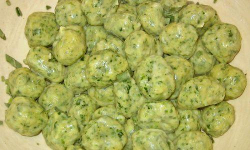 Gnocchi verdi di patate ai 4 formaggi (da La Prova del Cuoco)