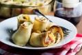 Tronchetti di crepes al pesto con ricotta e prosciutto (La prova del cuoco)