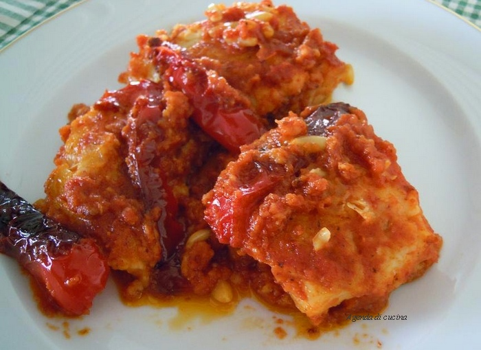 Baccalà patate e peperoni