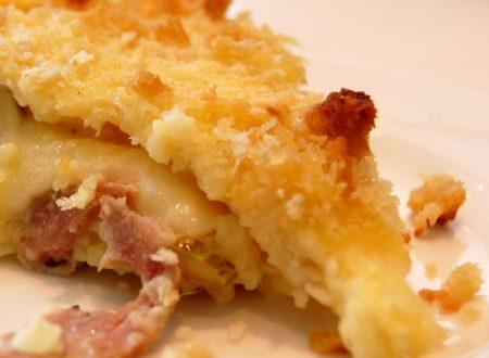 Torta di prosciutto cotto con patate
