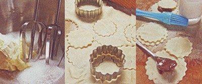 Biscotti farciti con crema alla nocciola