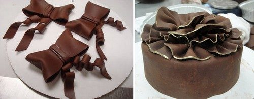 Decorare i dolci con il cioccolato Plastico al miele