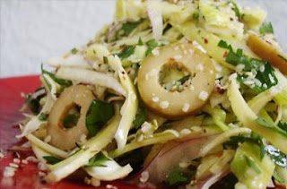 Insalata carciofi finocchi e olive