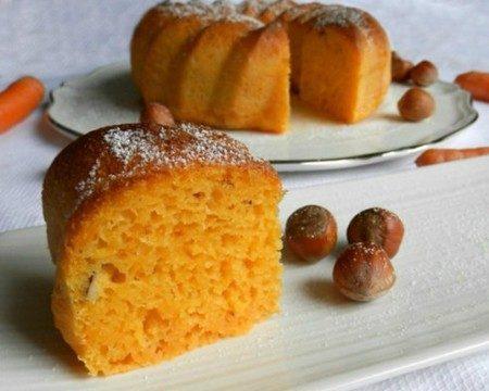 Torta di carote e nocciole (cotto e mangiato)