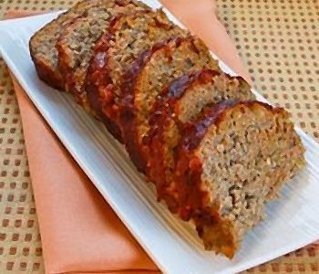 Polpettone di carne e zucca (cotto e mangiato)