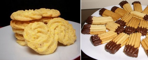Biscotti a forma di esse (cotto e mangiato)