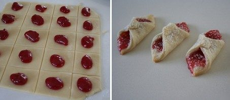 Biscotti pizzicati alla marmellata (cotto e mangiato)