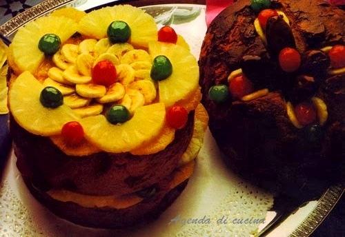 Panettone farcito alla frutta