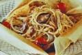 Spaghetti e vongole al cartoccio