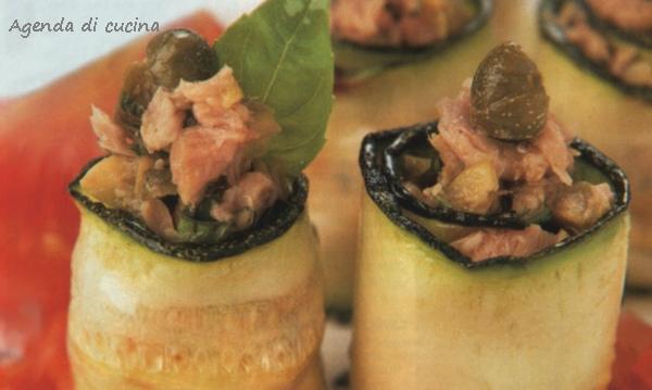 Involtini di zucchina e tonno