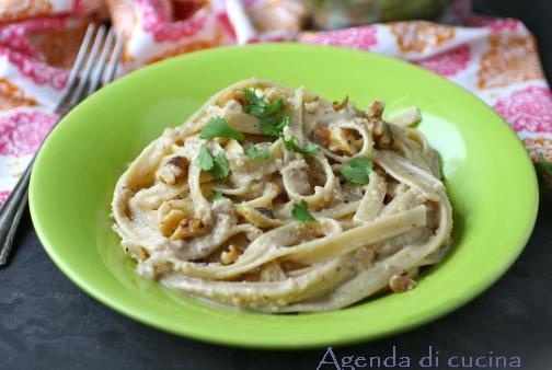 Lasagnette in salsa di ricotta e noci