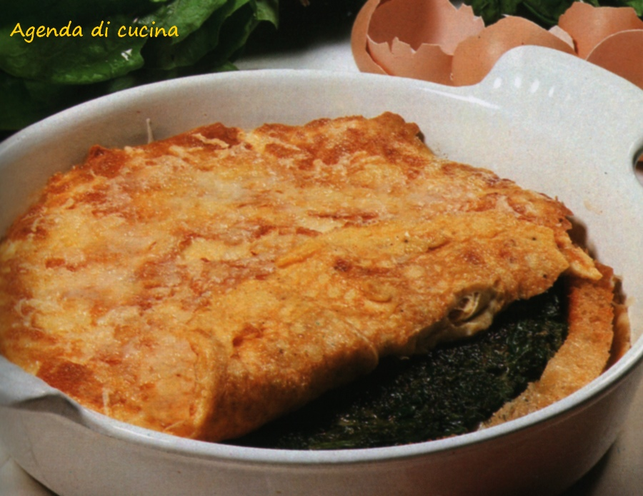Crepes ai crostini e spinaci