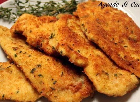 Cotolette di pollo in salsa formaggino