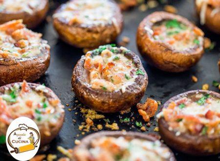 Funghi champignon ripieni alla pancetta