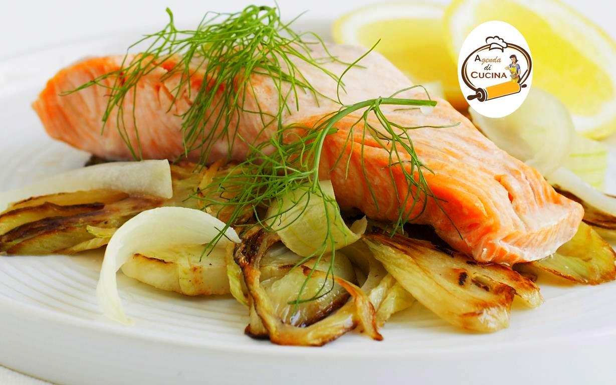 Salmone con finocchi e salsa d'anice